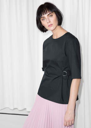 And other stories Duo D-Ring Belt Tee
