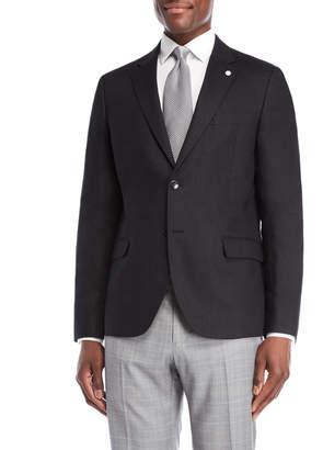 Nautica Black Briella Linen Suit Jacket