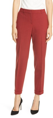 BOSS Tocanes Pinstripe Cuffed Suit Pants