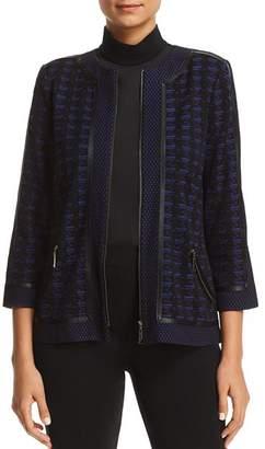 Misook Lightweight Textured Knit Jacket