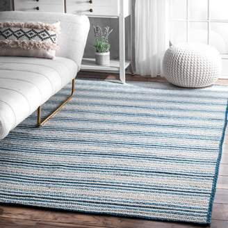 Blue Area Rosecliff Heights Spalding Hand Braided Rug