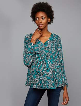 A Pea in the Pod Sleeve Detail Floral Blouse