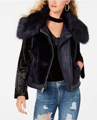 GUESS Sleeveless Posh Faux-Fur Vest