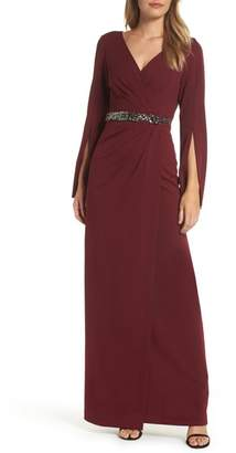 Adrianna Papell Faux Wrap Gown