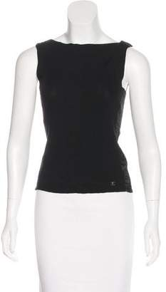 Chanel Sleeveless Ribbed Top