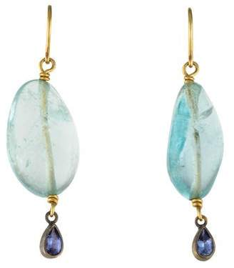 Mallary Marks Aquamarine & Tanzanite Drop Earrings