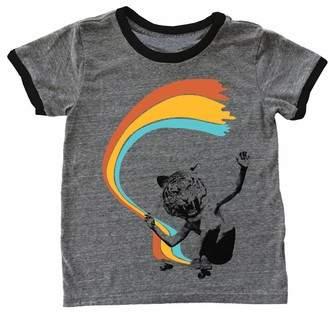 TINY WHALES Shredding Tiger Ringer T-Shirt