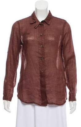 Burberry Pull-Over Ramie Blouse