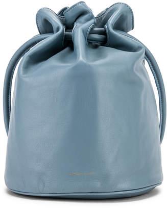 Mansur Gavriel Drawstring Pouch in Grey Blue | FWRD