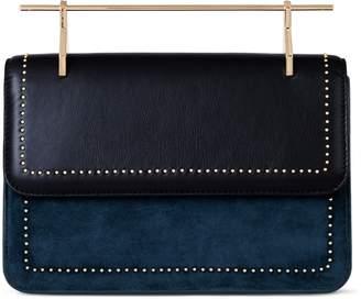 M2Malletier La Fleur de Mal Leather & Velvet Shoulder Bag