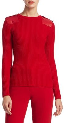 Ralph Lauren Collection Leather Patch Cashmere Sweater