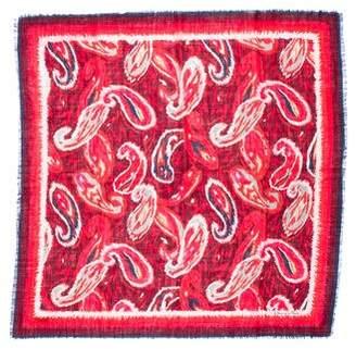 Oscar de la Renta Wool Printed Scarf