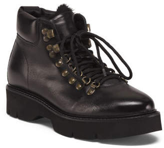 Made In Italy Shearling Leather Boots