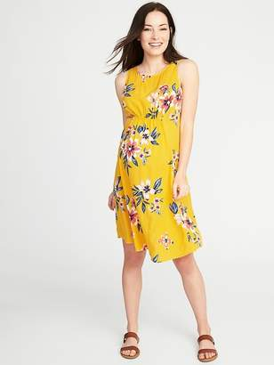 Old Navy Maternity High-Neck Shirred-Waist Shift Dress