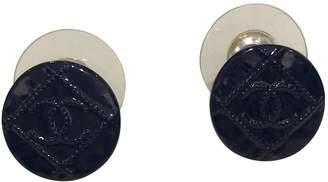 Chanel Navy Steel Earrings