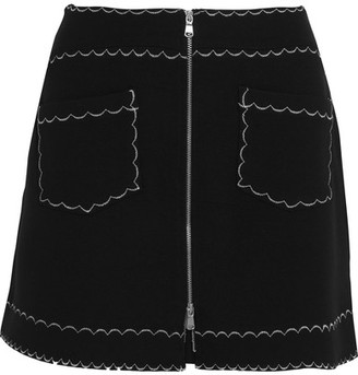 McQ Alexander McQueen - Stretch-knit Mini Skirt - Black $295 thestylecure.com