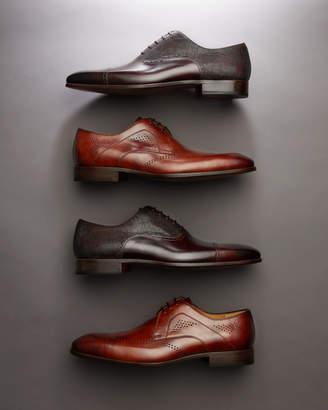 Magnanni Men's Hand-Antiqued Calfskin/Suede Lace-Up Oxford Dress Shoes