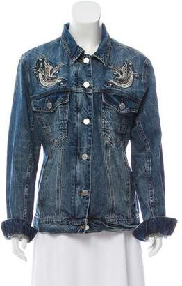 Blank NYC Embroidered Denim Jacket