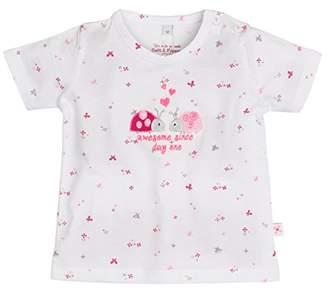 Salt&Pepper SALT PEPPER Baby Girls' NB T-Shirt Sunshine Allover (White 010), 3-6 Months
