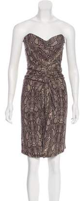 Michael Kors Strapless Knee-Length Dress