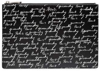 Givenchy signature print clutch