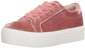 Kenneth Cole New York Women's Abbey Platform Lace up Velvet Fashion Sneaker