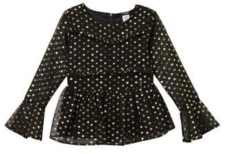 Bebe Metallic Chiffon Top (Big Girls)