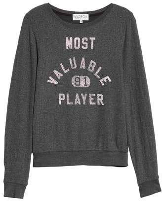 Wildfox Couture Most Valuable Player Baggy Beach Jumper Sweatshirt
