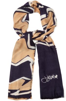 DIANE VON FURSTENBERG Kenley scarf $268 thestylecure.com