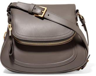 TOM FORD - Jennifer Medium Leather Shoulder Bag - Gray $2,950 thestylecure.com