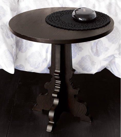 Silhouette Pedestal Side Table - Coffee