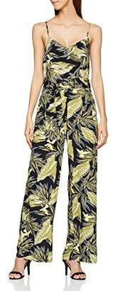Warehouse Women's Palm Springs Jumpsuit, (Dark Green), 8