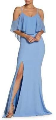 Dress the Population Summer Diana Cold-Shoulder Gown