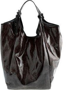 Givenchy Large Wrinkled Patent Sac- BLACK