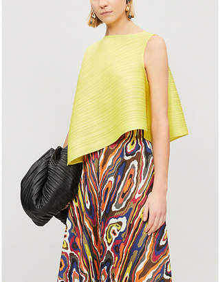 d60d761f23f75 Pleats Please Issey Miyake Asymmetric pleated top