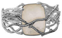Michael Aram Enchanted Forest Twig Crossover Bangle w/ Mother-of-Pearl
