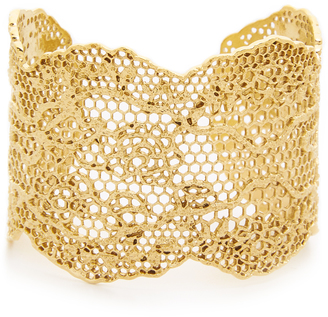 Aurelie Bidermann Laser Cut Vintage Lace Cuff $665 thestylecure.com