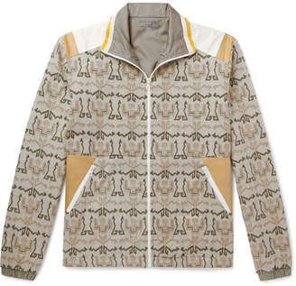 Lanvin Shell-Panelled Printed Cotton-Fleece Jacket
