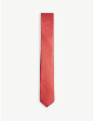 BOSS Plain silk tie