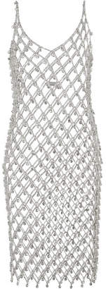Paco Rabanne Embellished Chain Midi Dress - Silver