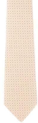 Hermes Geometric Print Silk Jacquard Tie