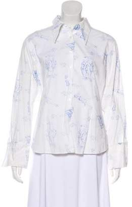 Anne Fontaine Printed Button-Up Shirt
