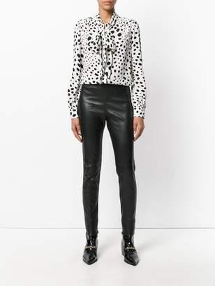 Saint Laurent Mid waist leather leggings