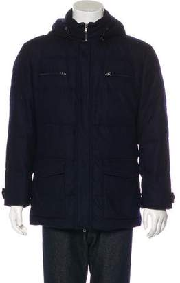 Brunello Cucinelli Wool & Cashmere Hooded Down Coat