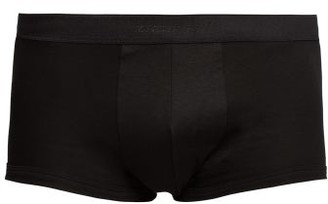 Zimmerli 286 Sea Island Cotton Boxer Trunks - Mens - Black