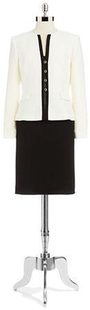 Tahari ARTHUR S. LEVINE Two Piece Colorblock Suit