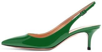 Eldof Slingbacks Pumps for Women,Low Kitten Heels Comfortable Pointy Toe Pumps Shoes US9