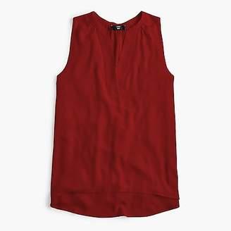J.Crew Tall sleeveless open V-neck top