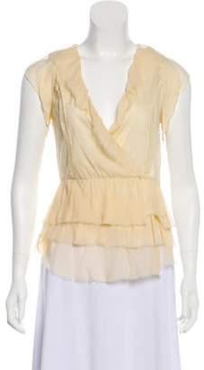 AllSaints Silk Short Sleeve Top