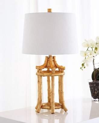 Golden Bamboo Table Lamp